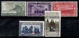 Cyrénaïque 1926 Sass. 27-31 Neuf * MH 100% S. Francesco - Cirenaica