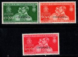 Cyrénaïque 1930 Sass. 60-62 Neuf * MH 100% Mariage Du Prince Umberto - Cirenaica