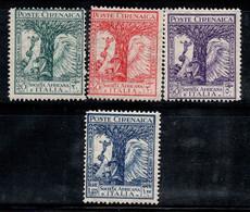 Cyrénaïque 1928 Sass. 45-48 Neuf * MH 100% Pro Société Africaine - Cirenaica