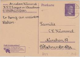 DR - KLV-Lager Wessobrunn Ganzsache N. München 1943 - Unclassified