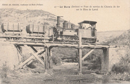 26 BUIS LES BARONNIES   Loco Sur Pont De Service Sur Le Rieu De Laval - Buis-les-Baronnies