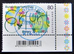"Bund/BRD April 2021,  Sondermarke ""Bundesgartenschau Erfurt"" MiNr 3600, Ecke 4, Gestempelt - Usati"