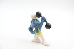 Smurfs Nr 20020#5 - *** - Stroumph - Smurf - Schleich - Peyo - Bodybuilder - Gym - Fitness - I Puffi