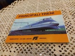 PRINCIPALI TRENI - ORARIO ESTIVO 1985 - Europa