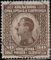 Yougoslavie 1924 ~ YT 159  - 50 P. Alexandre 1er - Usati