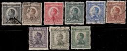 Yougoslavie 1924 ~ YT 158/67  - Alexandre 1er (9 V) - Usati