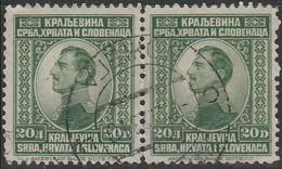 Yougoslavie 1923 ~ YT 153 Paire Lot De 2  - 20 D. Alexandre 1er - Usati