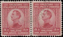 Yougoslavie 1923 ~ YT 151 Paire  - 5 D. Alexandre 1er - Usati