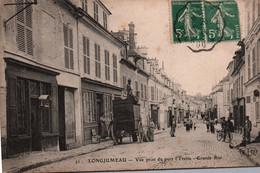 91- Longjumeau Vue Prise Du Port L' Yvette -Grande Rue + Le Postillon - Longjumeau