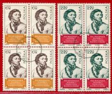 POLAND 1967 Kosciusko Anniversary Block Of 4 Used  .  Michel 1806-07 - Used Stamps