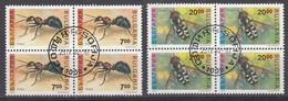 Bulgarije 1992 Mi Nr 3998 + 3999, Blok Van 4, Bosmier + Zweefvlieg. Forest Ant + Hoverfly, Insecten - Gebraucht