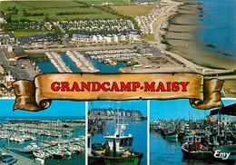 14 - Grandcamp Maisy - Multivues - Bateaux - Vue Aérienne - CPM - Voir Scans Recto-Verso - Otros Municipios