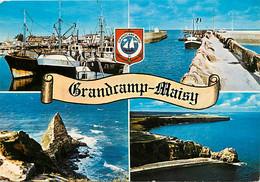 14 - Grandcamp Maisy - Multivues - Bateaux - Blasons - CPM - Voir Scans Recto-Verso - Otros Municipios