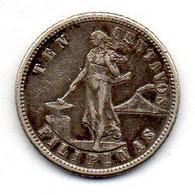 PHILIPPINES, 10 Centavos, Silver, Year 1904, KM #165 - Philippines