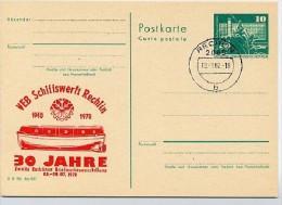 DDR P79-16d-78 C66d Postkarte PRIVATER ZUDRUCK Rot Schiffswerft Rechlin Sost 1978 - Privatpostkarten - Gebraucht