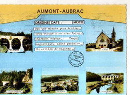 48 AUMONT AUBRAC , Sryle Telegramme - Aumont Aubrac