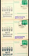 DDR P79-11-79 C87 3 Postkarten PRIVATER ZUDRUCK Farbvarianten Agra Leipzig Sost. 1979 - Privatpostkarten - Gebraucht