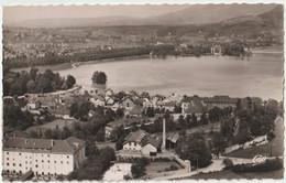 2 CPSM  Annecy (74) Dans Les Années 50  Vue Générale Aérienne De L'urbanisation Près Du Lac Et En Arrière   Ed CAP - Annecy