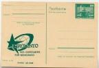 DDR P79-4b-80 C105-c Postkarte PRIVATER ZUDRUCK Esperanto Weltkugel Leipzig 1980 - Privatpostkarten - Ungebraucht