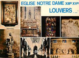 27 - Louviers - Eglise Notre Dame - Multivues - Art Religieux - CPM - Voir Scans Recto-Verso - Louviers
