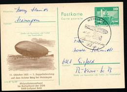 DDR P79-38c-81 C170-d Postkartd ZUDRUCK Zeppelinlandung Meiningen Typ2 Sost. 1980 - Privatpostkarten - Gebraucht