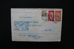 Portugal First Flight Lisbon To New York Yankee Clipper 1939 A04s - Lettere
