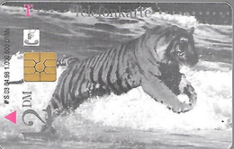 CARTE-PUCE-ALLEMAGNE-ESSO-THEMES ANIMAUX-TIGRES-TBE- - Giungla