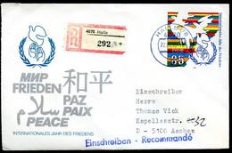 DDR U5 Umschlag EINSCHREIBEN Halle-Aachen 1990 Kat. 16,00 € - Umschläge - Gebraucht
