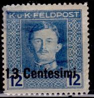 Italy, 1918, Austrian FeldPost Occupation, Surcharge,13c/12h, Sc#N7, MH - Austrian Occupation