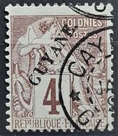 GUYANE FRANCAISE 1892 - Canceled - YT 18 - 4c - Gebruikt