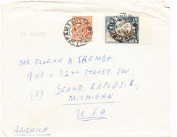 CYPRUS Cover Postmarked Famagusta, 23 Dec.  1957 - The 20 Mils  Rate To USA - Cyprus (...-1960)
