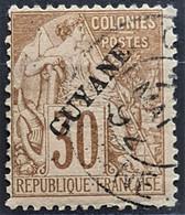GUYANE FRANCAISE 1892 - Canceled - YT 24 - 30c - Gebruikt