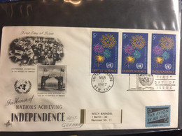 UNO : NEW YORK FDC  Independance Of Nations - FDC
