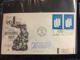 UNO : NEW YORK FDC   13c Definitive Issue 1969 - FDC