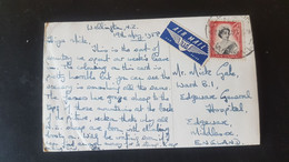 Queenstown - Sent To Edgware Middlesex England - Air Mail - Used Stamps