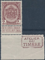 [** SUP] N° 82, 2c Brun Lilacé, Bdf Avec 'Atelier Du Timbre' - Cote: 65€ - Sin Clasificación