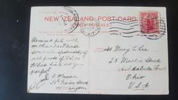 Lake Waikaremoana - Sent To Ashtabula Ohio USA - Cancellation San Francisco California - Used Stamps