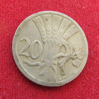 Czechoslovakia 20 Haleru 1926 KM# 1 *V2 Tchecoslovaquie Checoslovaquia Cecoslovacchia Tchèque Et  Slovaque - Czechoslovakia