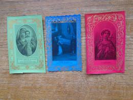 Lot De 3 Anciennes Images Religieuses - Images Religieuses