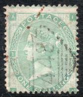 REINO UNIDO - Gran Bretaña Sello Usado X 1 Schilling REINA VICTORIA Año 1862 - Unclassified