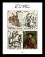 Sao Tome And Principe 2021 Mih. 9813/16 Paintings Of Albrecht Dürer MNH ** - Sao Tome Et Principe