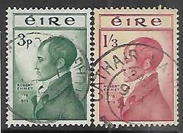 Ireland  1953   Sc#149-50  Emmet Set Used   2016 Scott Value $26.35 - Used Stamps