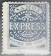Samoa  1879   Sc#1  1p  MH  2016 Scott Value $37.50  Type III - Samoa