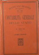 CONTABILITÀ GENERALE DELLO STATO - E. Bruni ( 1914) - Libri Antichi