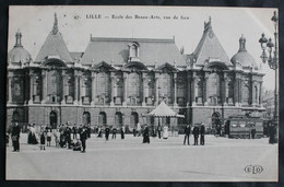 CPA Nord - Lille (59000) – 97. Ecole Des Beaux Arts Vue De Face – ELD – Animée – A Voyagé En 1910. - Lille