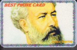 FRENCH WRITER JULES VERNE SET OF 8 PHONE CARDS - Personaggi