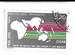 CENTRE DES HAUTES ETUDES SUR L AFRIQUE ET L ASIE MODERNES, TIMBRE DE 1986 OBLITERATION RONDE, VOIR LE SCANNER - Briefe U. Dokumente