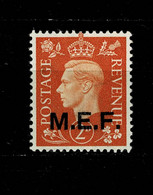 10793- MEF Occupazione Britannica Delle Colonie Italiane Tiratura Del Cairo Sassone 2 MH * - Occup. Britannica MEF
