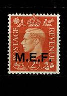 10794- MEF Occupazione Britannica Delle Colonie Italiane Tiratura Del Cairo Sassone 2 MH * - Occup. Britannica MEF