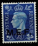 10796- MEF Occupazione Britannica Delle Colonie Italiane Tiratura Del Cairo Sassone 3  MH * - Occup. Britannica MEF